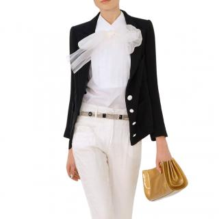 Chanel Black Silk Blazer