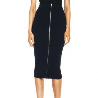 T by Alexander Wang Cotton Rib Knit 2 Way Zip Skirt