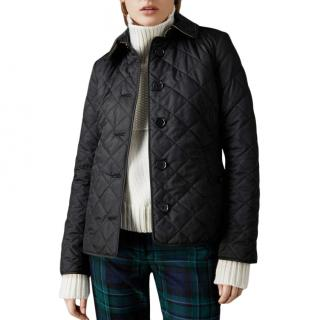 Burberry Brit Black Diamond Quilted Jacket