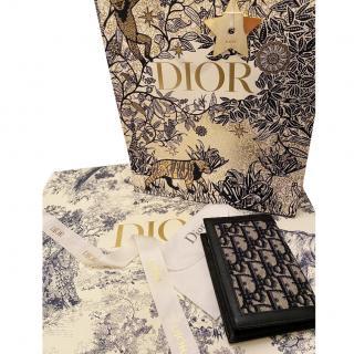 Dior Monogram Oblique Canvas Leather Trim Passport Holder