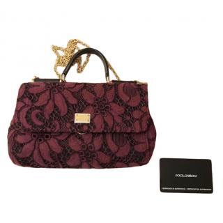 Dolce & Gabbana Floral Lace Sicily Bag