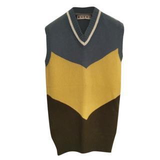 Marni Colourblock Knit Cashmere Vest