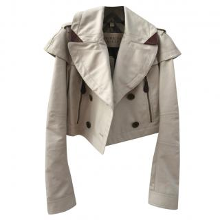 Burberry Brit Cropped Leather Jacket