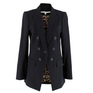 Veronica Beard Black Double-Breasted Blazer