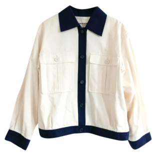 Saint Laurent VIntage Blue & Cream Jacket