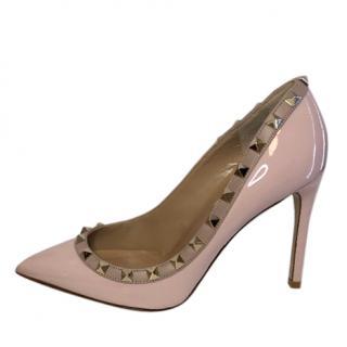 Valentino Pink Patent Rockstud Pumps