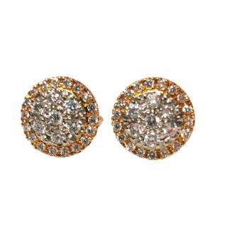 Cred Bespoke Pave Diamond Halo Earrings