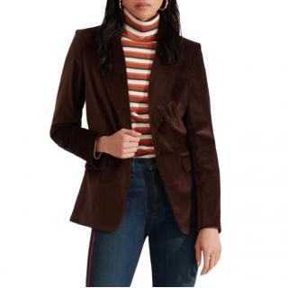 Veronica Beard Brown Corduroy Capucine Dickey Jacket
