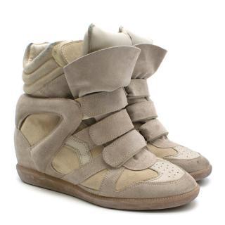 Isabel Marant Beige Suede Etoile Bekett Sneakers