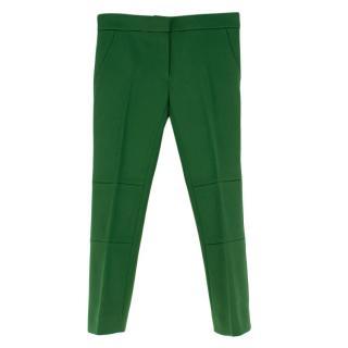 Louis Vuitton Green Wool Straight Leg Trousers