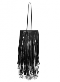 Calvin Klein 205W39NYC Fringed two-tone leather bucket bag