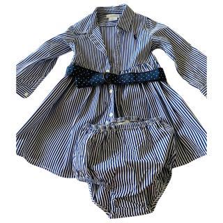 Ralph Lauren baby girl striped dress & bloomers