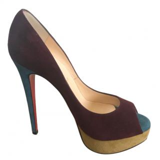 Christian Louboutin Colourblock Veau Velours Platform Pumps - NEW