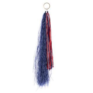 CALVIN KLEIN 205W39NYC Raffia & Wool Fringed Belt/Bag Charm