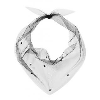 Pan & The Dream Black Swarovski Superfine Tulle Scarf