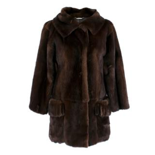 Dolce & Gabbana Dark Brown Mink Fur Coat