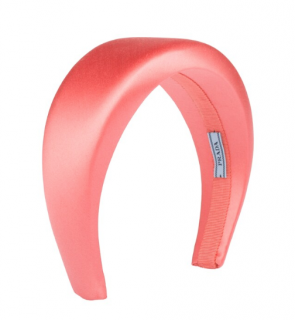 Prada Coral Wide Satin Headband  - Current
