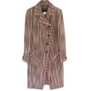 Chanel Brown Tweed Coat