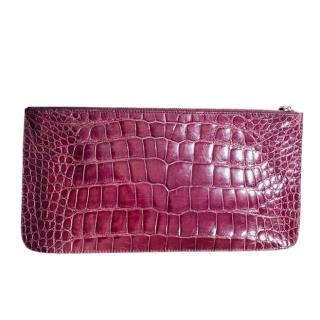 Prada Crocodile Leather Pouch