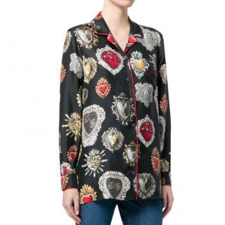 Dolce & Gabbana Sacred Heart print pyjama shirt