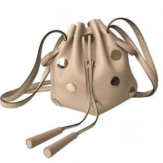 Tod's Nude Embellished Drawstring Bag