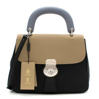 Burberry Two Tone The DK88 MD Top Handle Bag