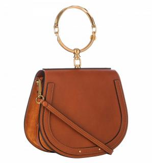 Chloe Tan Medium Nile Leather Bracelet Bag