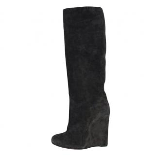 Christian Louboutin Suede Zepita Wedge Boots