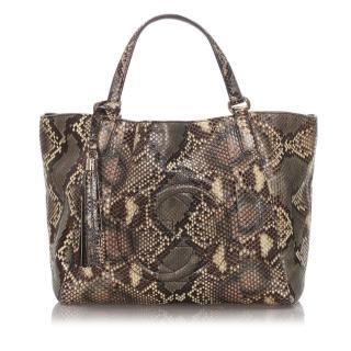 Gucci Python Soho Cellarius Tote Bag