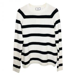 Ami striped cotton jumper