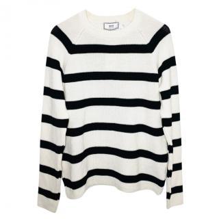 Ami striped cotton jumper