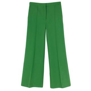 Sandro Green Evania Flared Wide Leg Trousers
