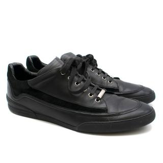 Dior Homme Black Low Leather Trainers