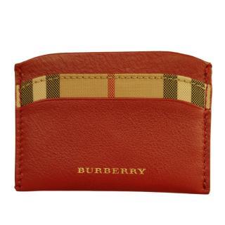 Burberry Horseferry Haymarkey Check Izzy Card case
