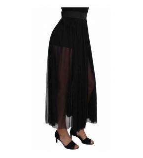 Dolce & Gabbana black tulle maxi skirt