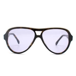 Emilio Pucci Tortoiseshell Aviator Sunglasses