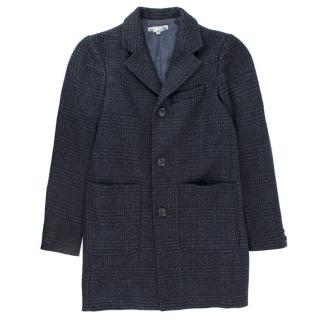 Bonpoint Girl's Navy Check Jacket