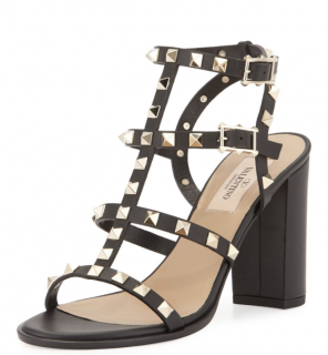 Valentino Rockstud Ankle Strap 90mm Sandals