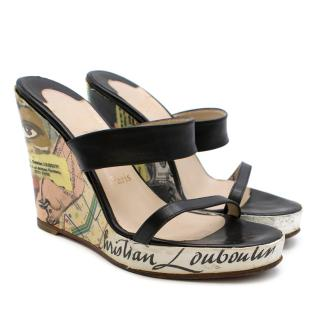 Christian Louboutin Collage Print Wedges