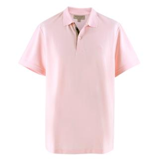 Burberry Pink Embroidered Polo Shirt