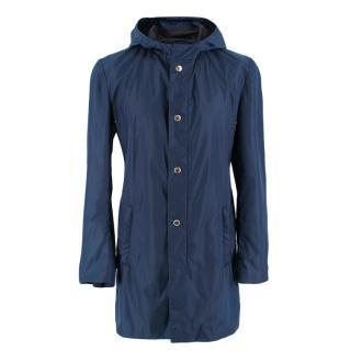 Prada Navy Blue Nylon Water-Proof Jacket