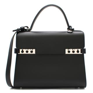 Delvaux Tempete MM Bag in Black Souple Box Calf Leather