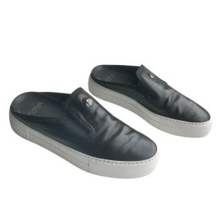 Moncler Black Slip-On Slides