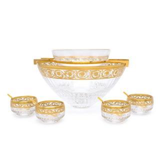 Hermes Saint Louis Thistle Gold Caviar Set