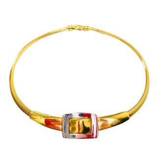 Givenchy vintage gold plated choker