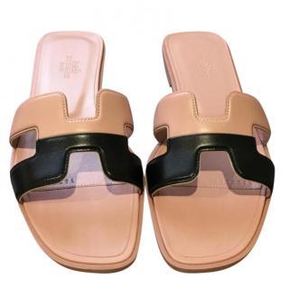 Hermes Two-Tone Oran Sandals