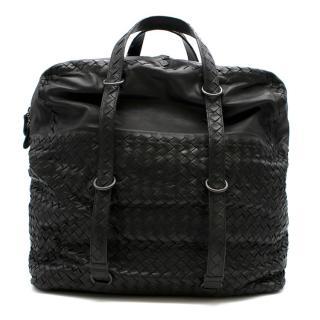 Bottega Veneta Large Black Intrecciato Leather Tote Bag