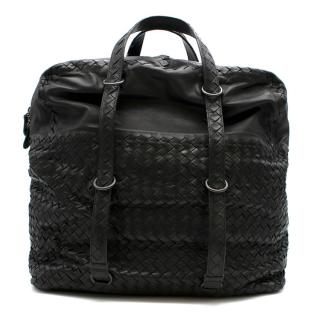 Bottega Veneta Large Black Intrecciato Leather Tote Bag