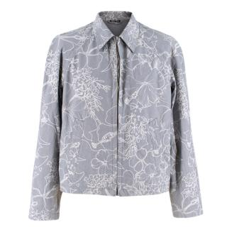 Miu Miu Printed Cotton Zip-Up Jacket