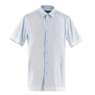 Raf Simons Blue Short Sleeved Shirt